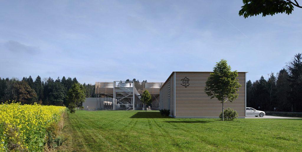 Simulation des geplanten Gebäudes in der Umgebung